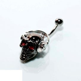 Headphone-skull Bauchnabelpiercing